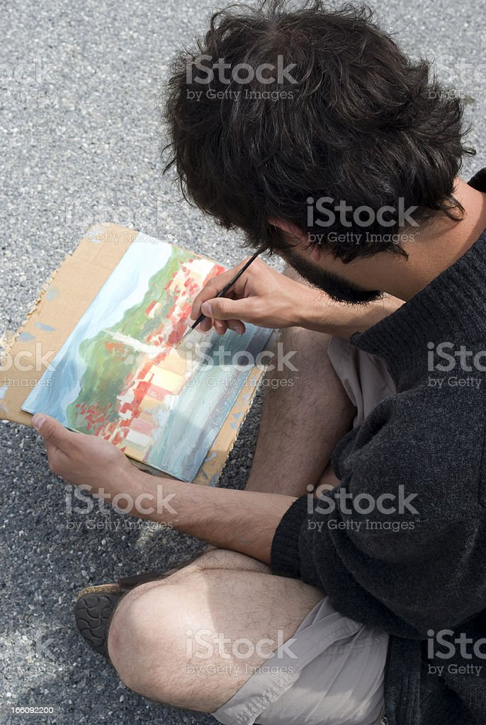 Painter royalty-free stock photo