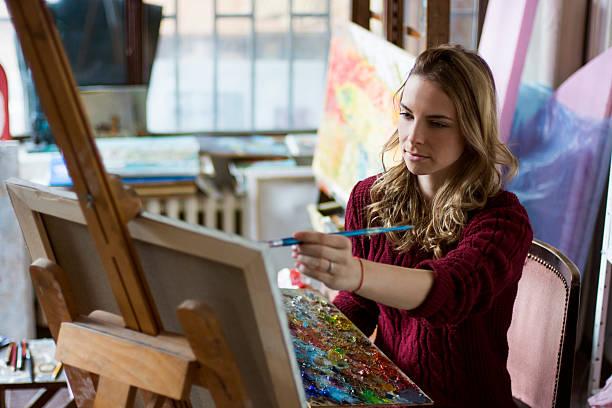 pintor - clase de arte fotografías e imágenes de stock