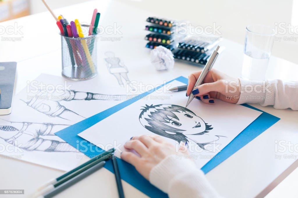 Painter stock photo