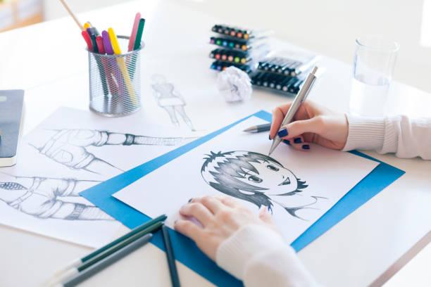 畫家 - 卡通 個照片及圖片檔