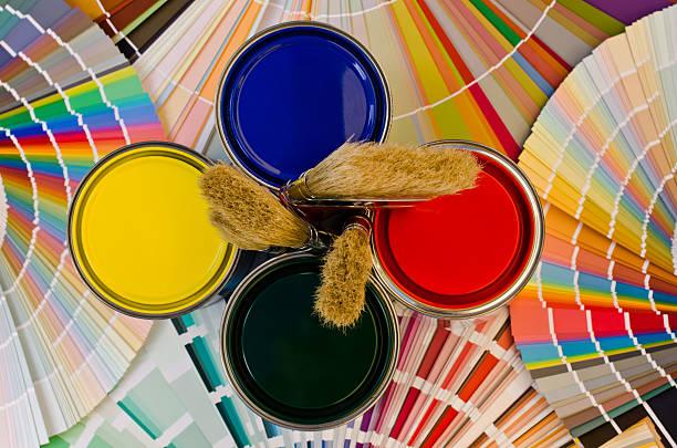 Painter tools. stock photo
