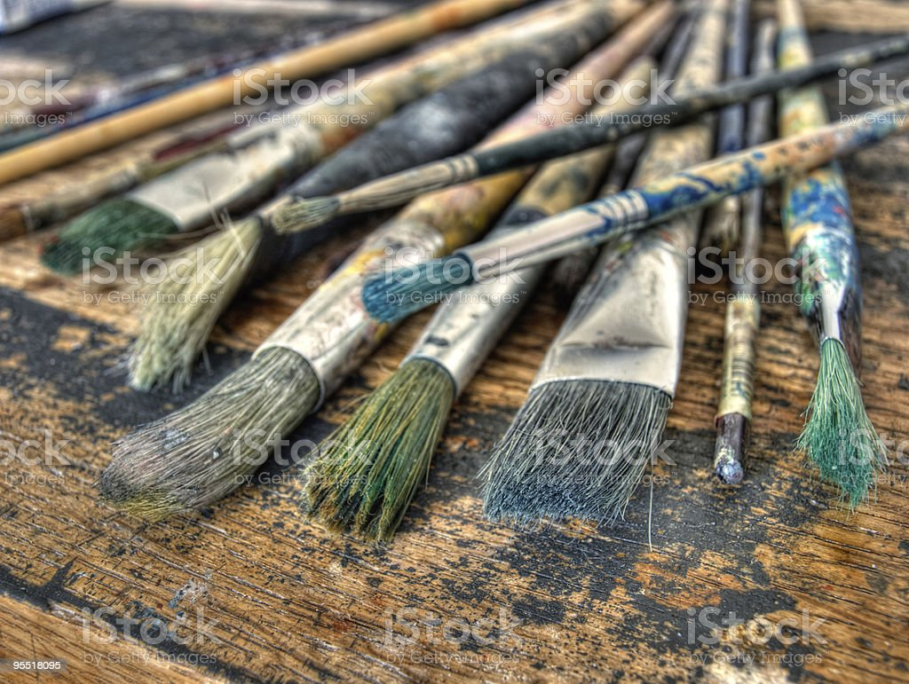 Painter's brushes royalty-free stock photo