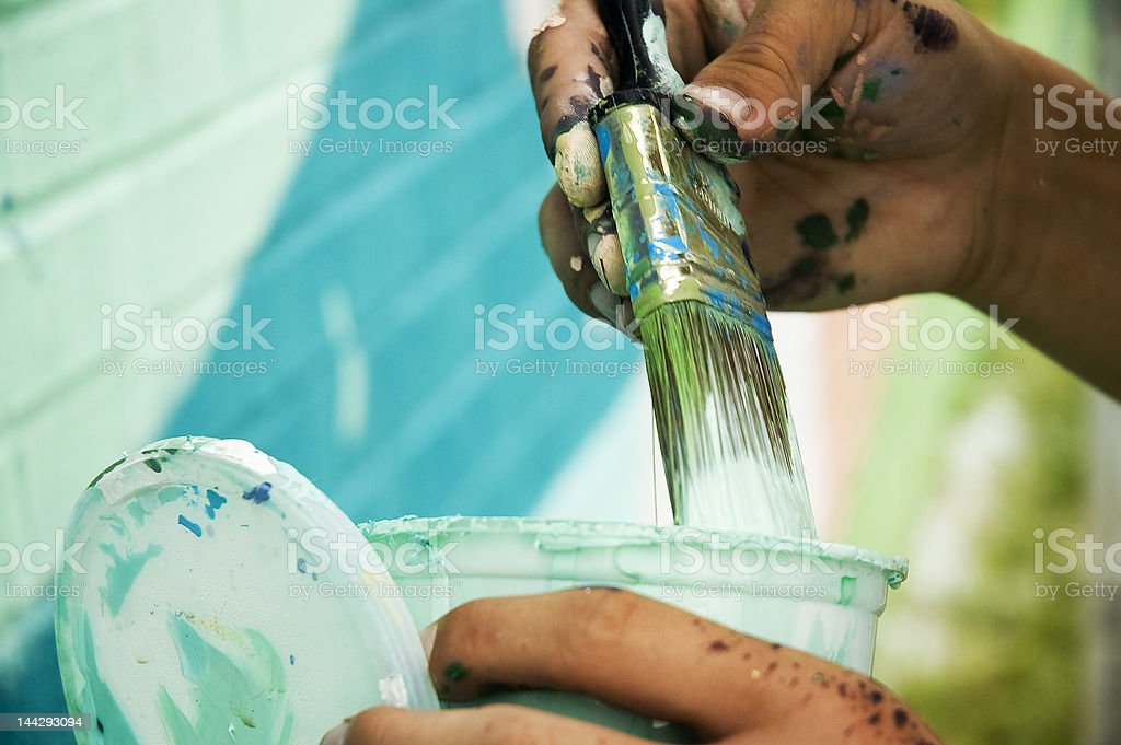 Painter's Hands stock photo