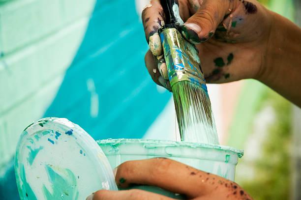 Peintre de mains - Photo