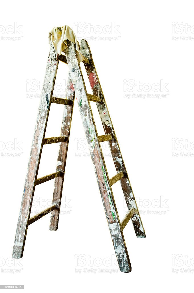 Painters Ladder Isolated On White Background Stock Photo Download Image Now Istock