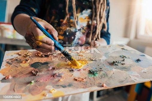 istock Painter's palette 1053904602