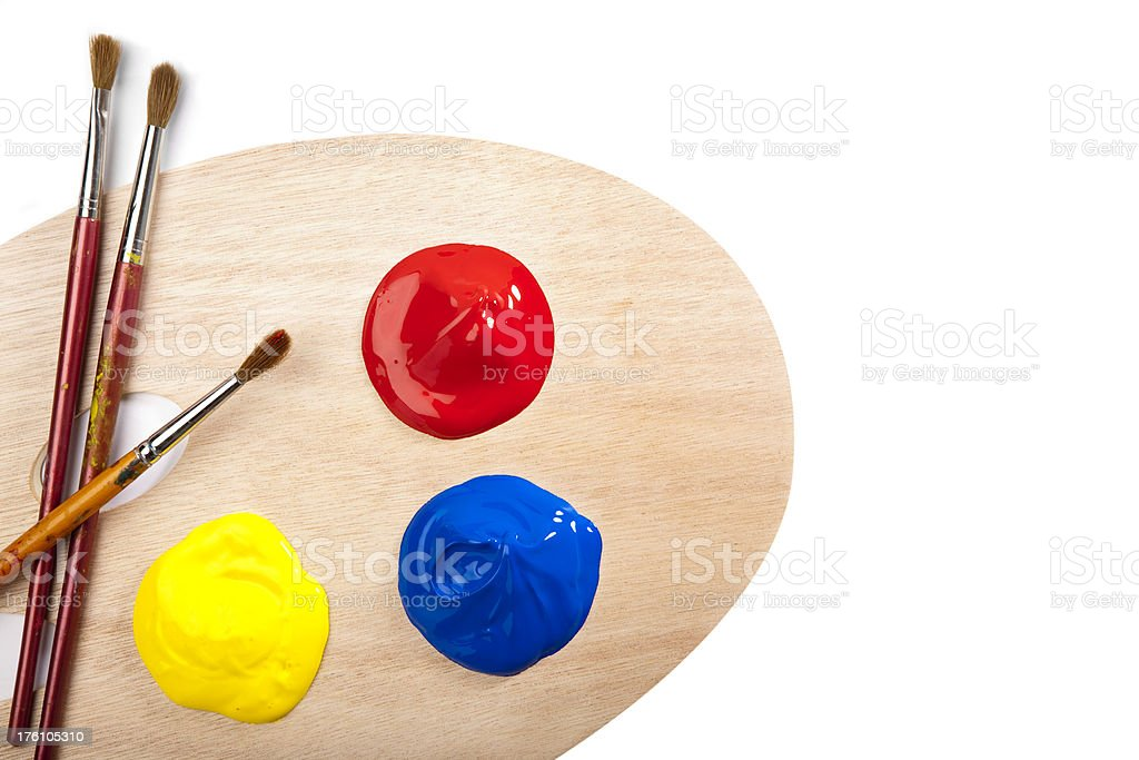 Painters palette royalty-free stock photo