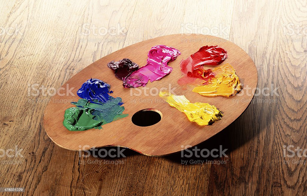 Painter's Palette stock photo