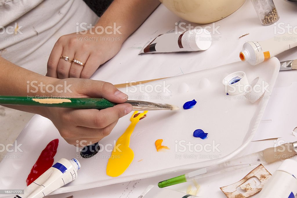 Painter's Pallet royalty-free stock photo