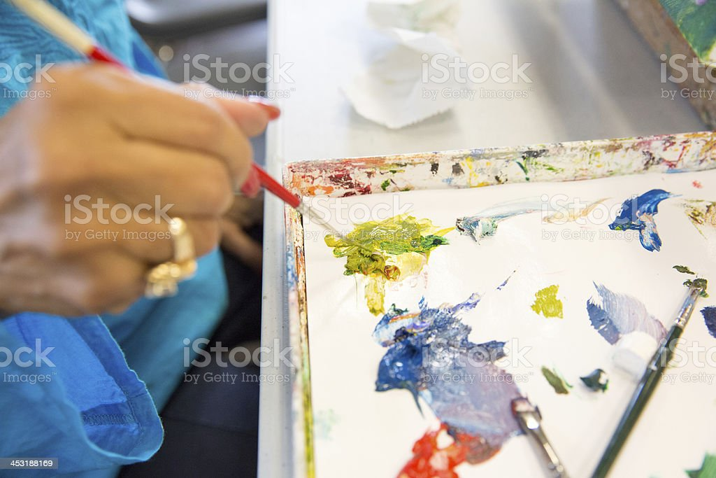 Painters pallet royalty-free stock photo
