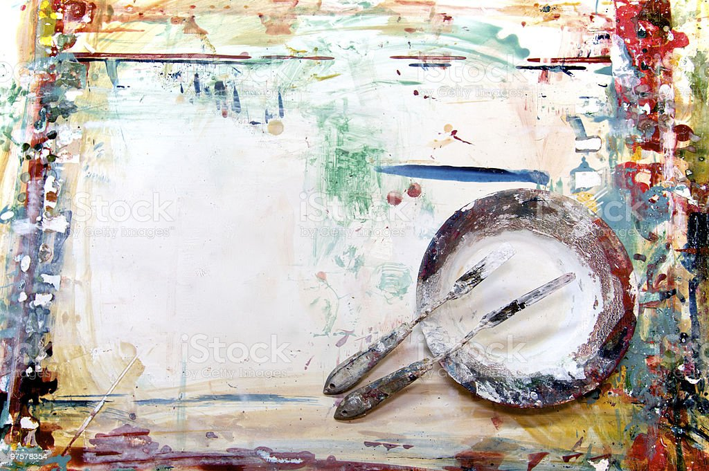 painters workingplace royalty-free stock photo