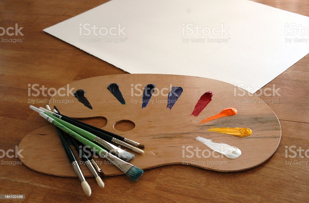 Painter-Up royalty-free stock photo
