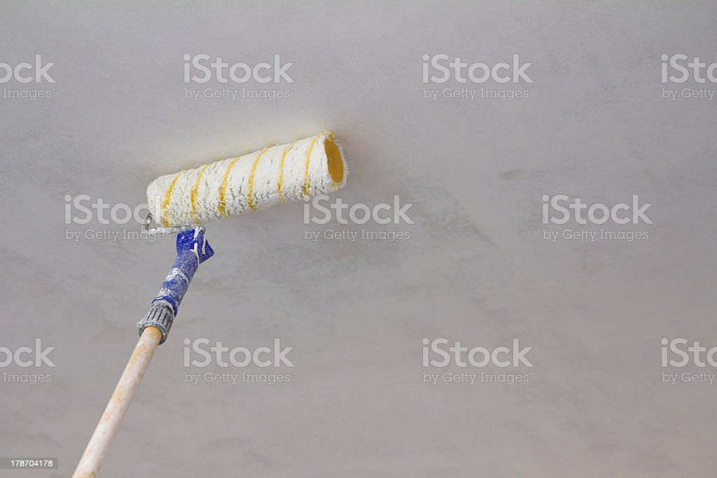 painting a ceiling stock photo