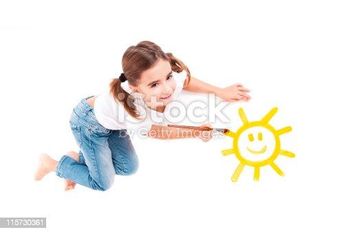 istock Painting a happy sun 115730361