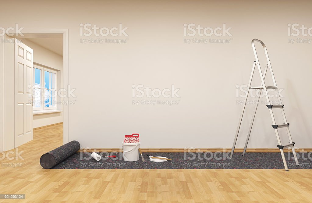 Pintura de uma parede  - foto de acervo