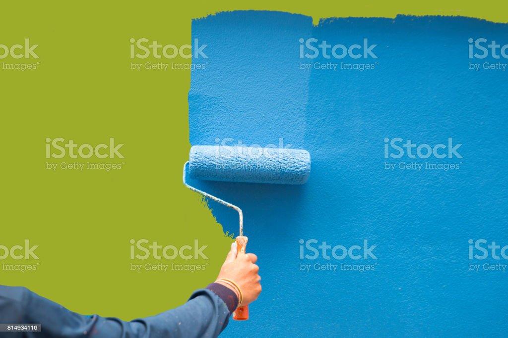 Bir duvar boyama stok fotoğrafı