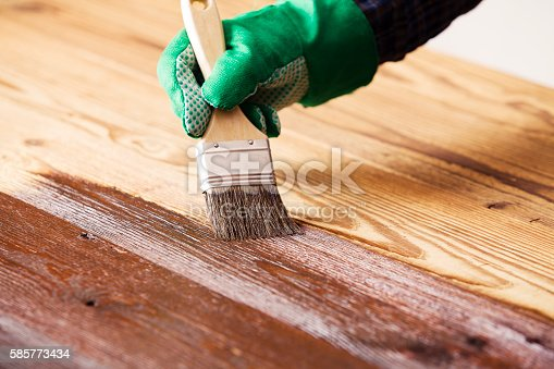 istock Painting and wood preservation 585773434
