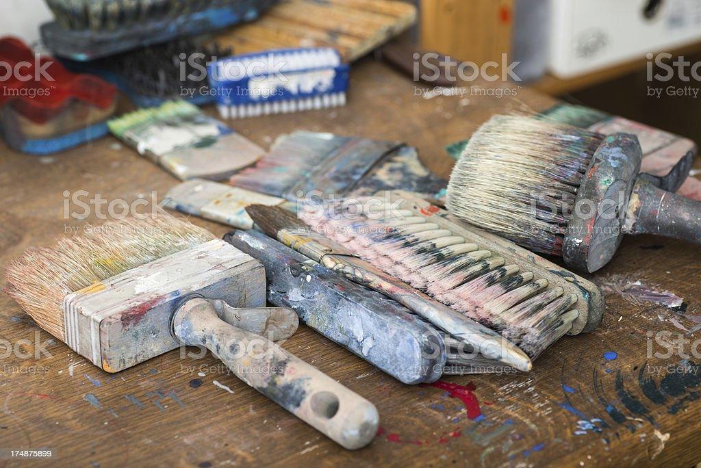 painting artist equipment stock photo