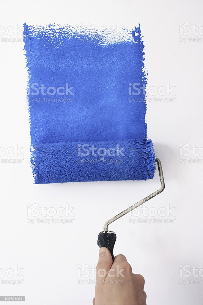 painting blue royalty-free stock photo