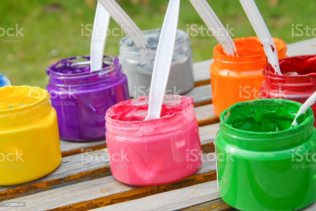 Painting Colors royalty-free stock photo
