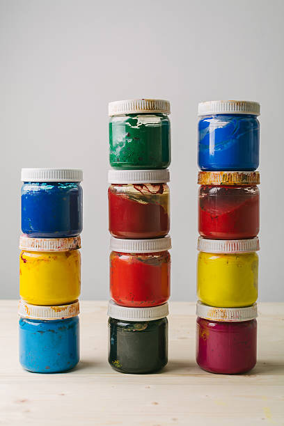 painting colors - tempera painting stock pictures, royalty-free photos & images