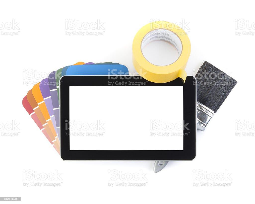 Painting & Digital Tablet stock photo
