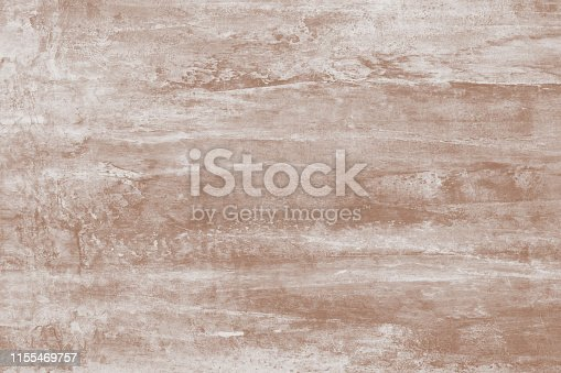 istock Painting, drawing. Abstract paint pattern of light brown with stains. Soft brown background of canvas. Illustration with blots on artistic backdrop. Watercolor paper texture, surface. Paint splash. 1155469757