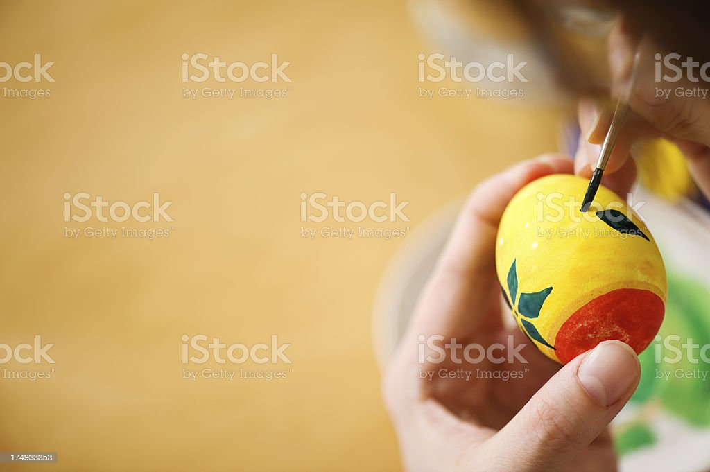Painting easter egg royalty-free stock photo