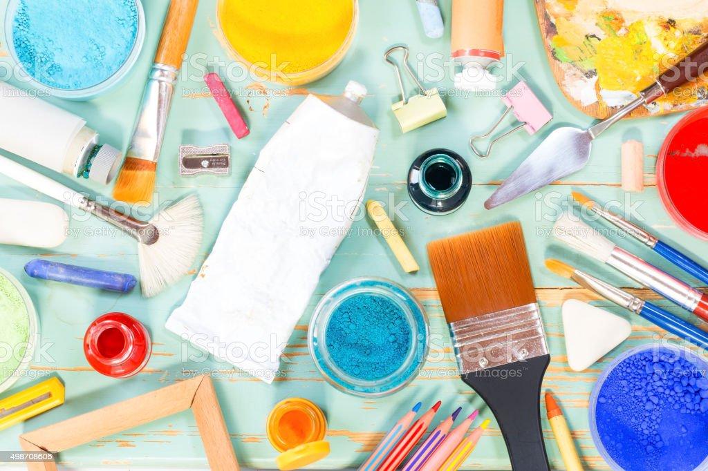 Painting equipment royalty-free stock photo