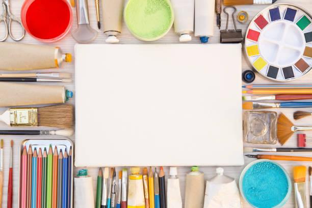 Painting equipments stock photo