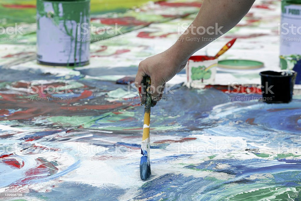 Painting festival stock photo