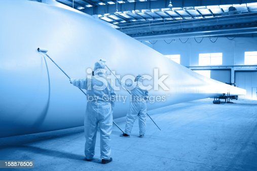 Painting for Wind turbine blade in workshop