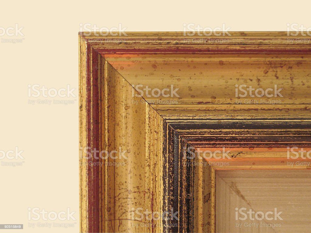 Painting Frame Detail royalty-free stock photo