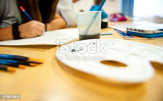 172382347 istock photo Painting girls 518615810