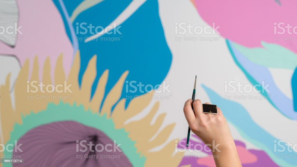 painting hand zbiór zdjęć royalty-free