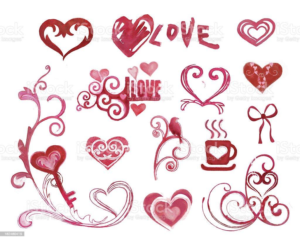 painting hearts royalty-free stock photo