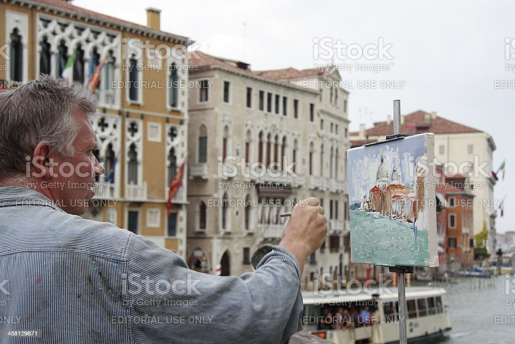 Painting in Venice stock photo