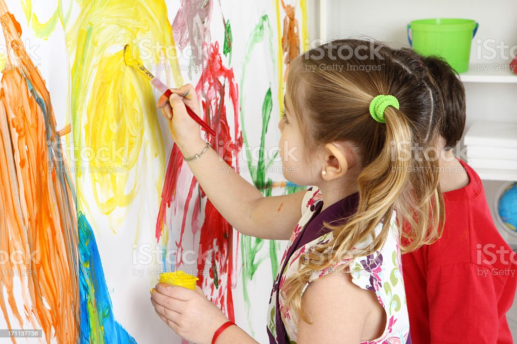 painting kids royalty-free stock photo