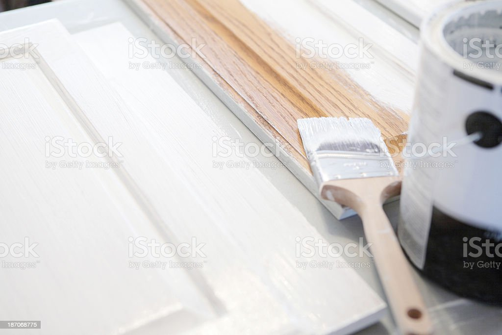 Painting Kitchen Cabinets royalty-free stock photo