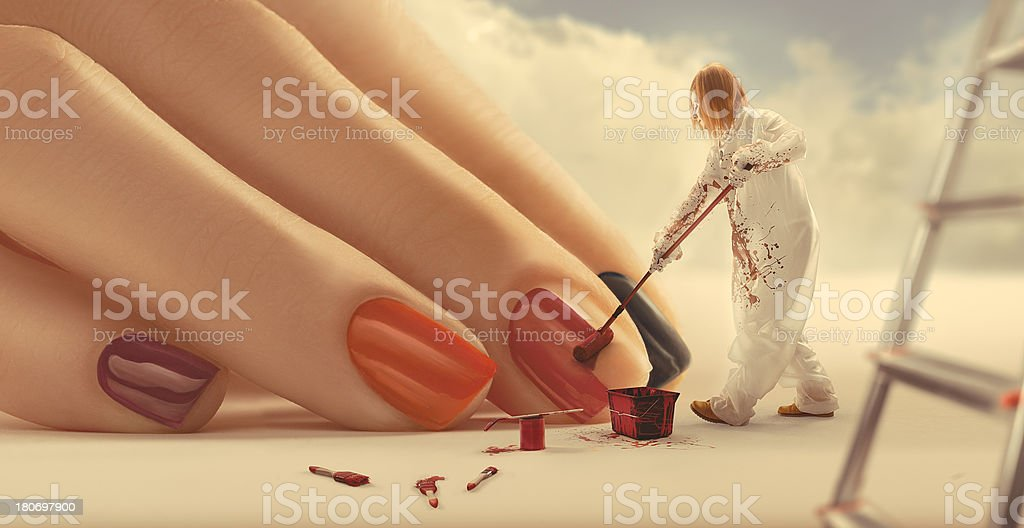 Painting Nails stock photo