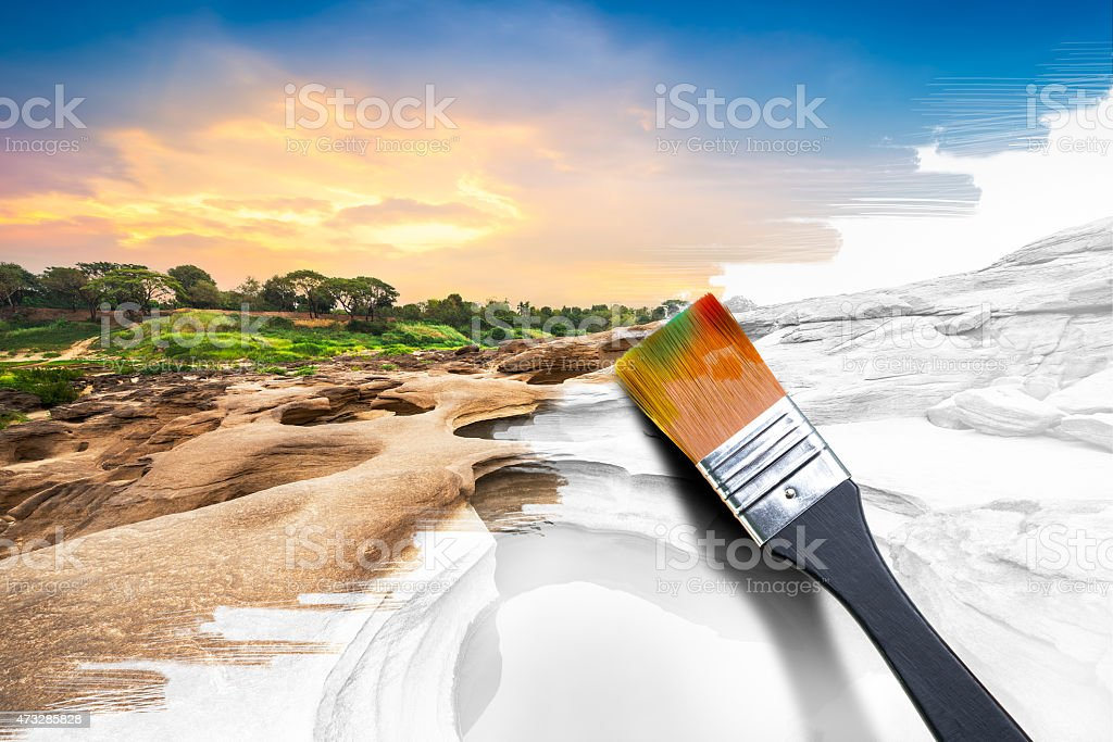 Painting natural image stock photo