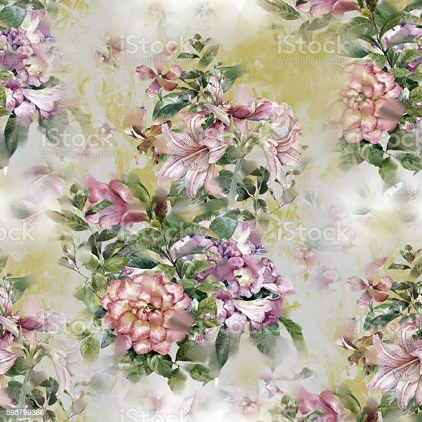 Painting of leaf and flowers seamless pattern picture id598799366?b=1&k=6&m=598799366&s=612x612&h=n7d9yo9cnrnyq4zmkzv7ixhybjxgv0gucvaa79t  as=