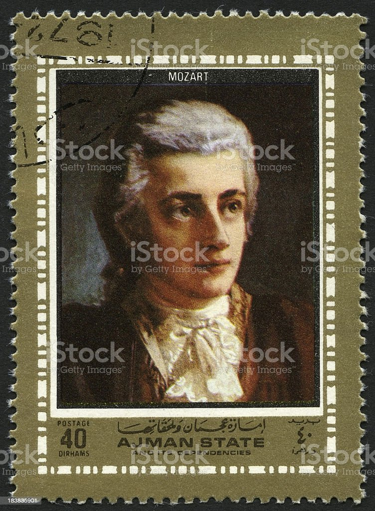 Painting of Mozart stock photo
