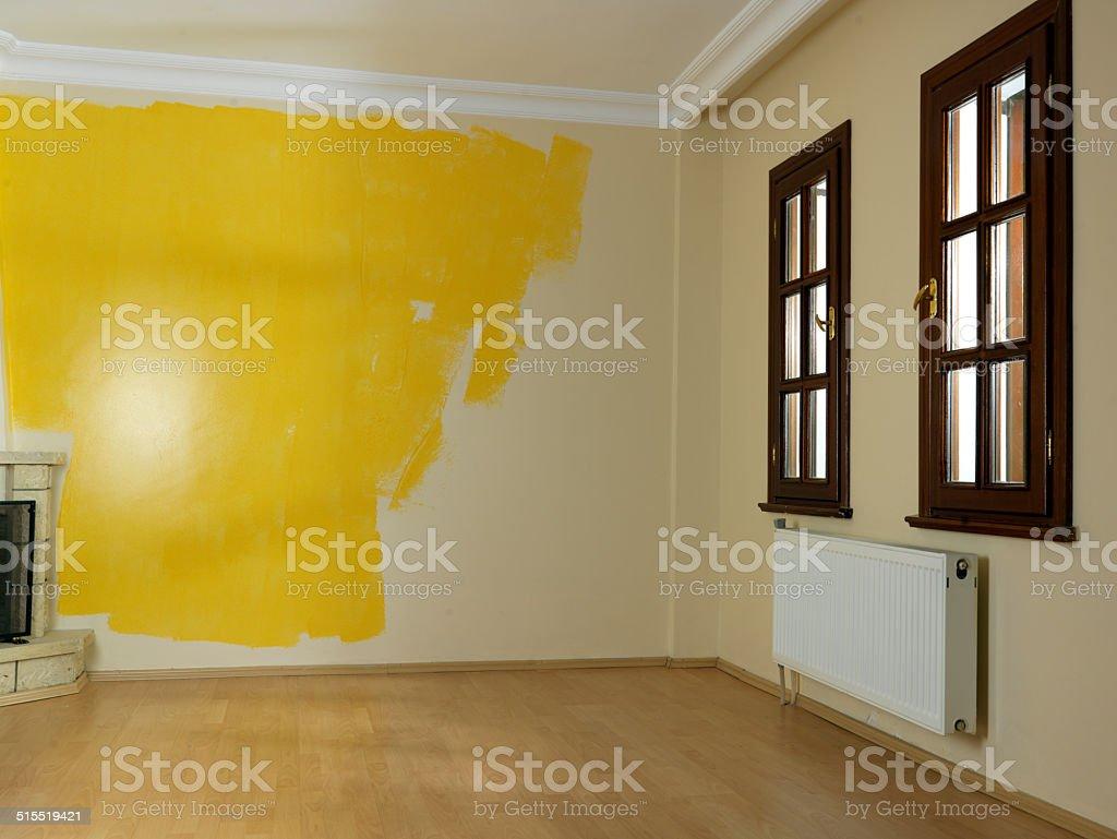 Photo Libre De Droit De Travaux De Peinture Des Murs Couleur