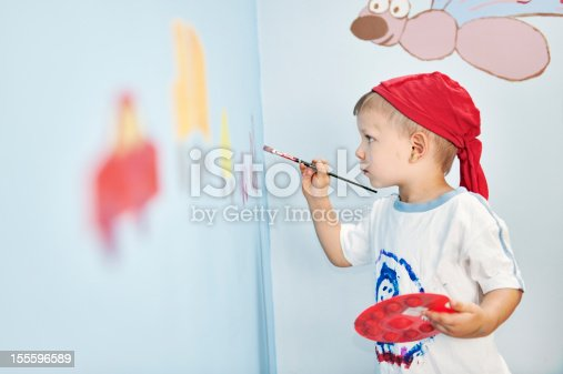 istock Painting on a wall 155596589