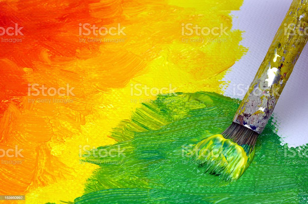 Painting on canvas royalty-free stock photo