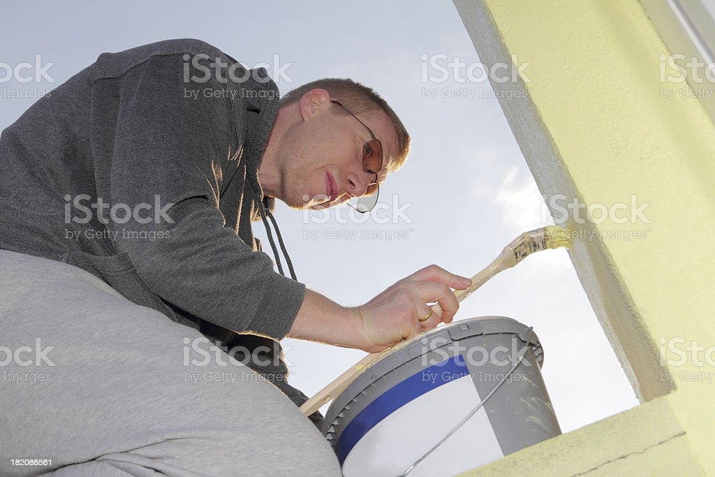 painting on wall royalty-free stock photo