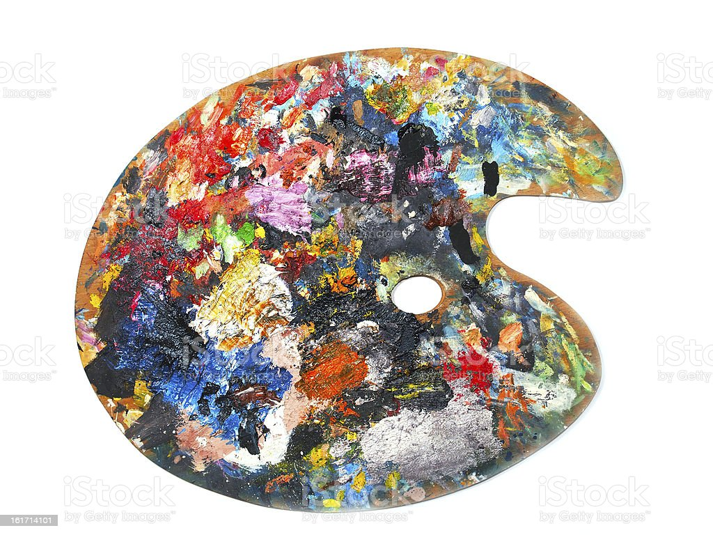 Painting palette royalty-free stock photo