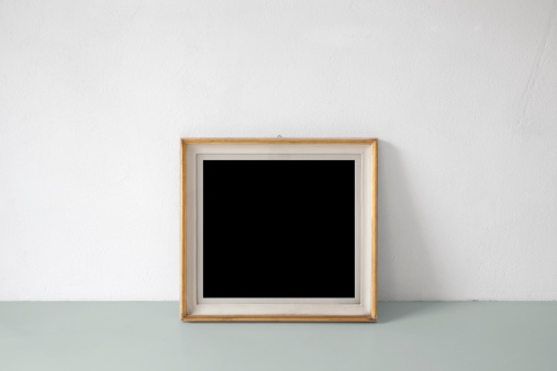 Blank painting propped on the floor of an art gallery. Similar photographs from my portfolio: