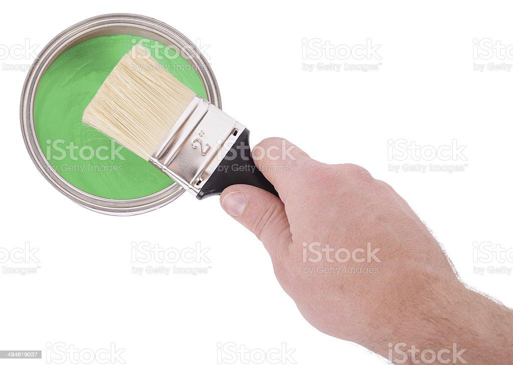 Painting pot stock photo